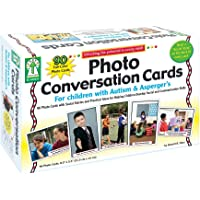 Carson Dellosa KE-845035 Photo Conversation Cards For Children With Autism And Aspergers