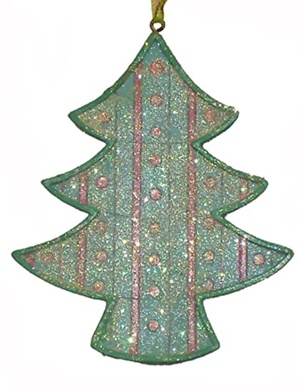 kurt adler 3 blue and pink pastel iced cookie tree christmas ornament - Pastel Green Christmas Decorations