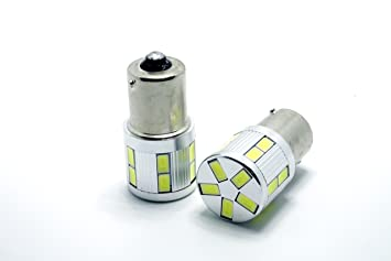 LEDPremium 2x BOMBILLAS DIURNAS DIA/LUCES MARCHA ATRAS PARA SEAT LEON III 2 LED BA15S P21W CANBUS: Amazon.es: Coche y moto