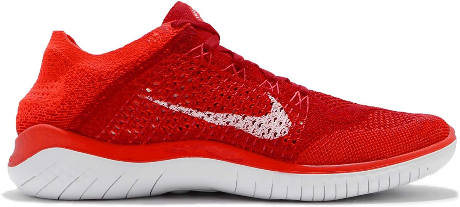 Nike Men s Free Rn Flyknit Running Shoe 11.5 M US, University Red White
