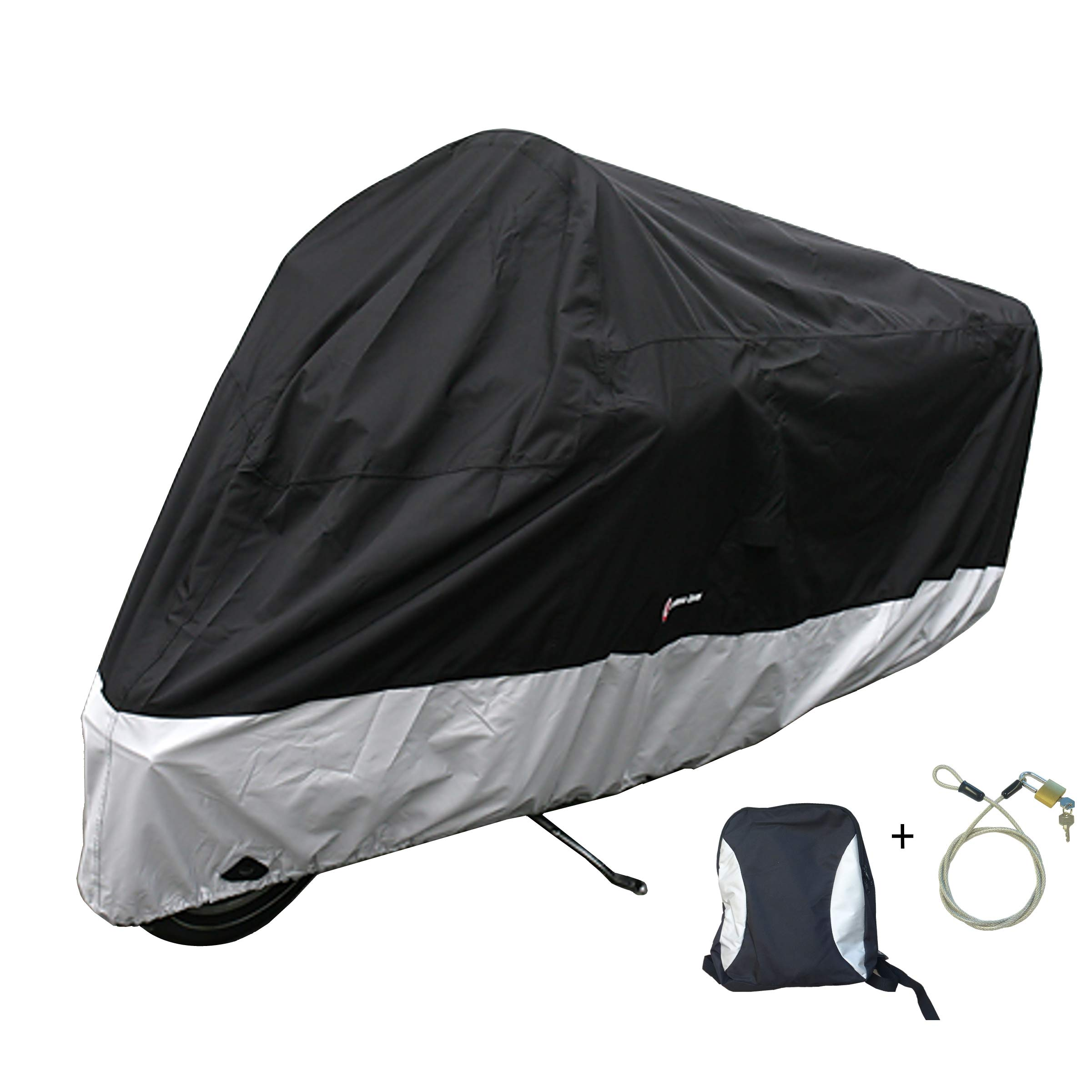 Formosa Covers Premium Heavy Duty Motorcycle Cover (XXL) with Cable & Lock. Fits up to 108'' Length Large Cruiser, Tourer, Chopper.