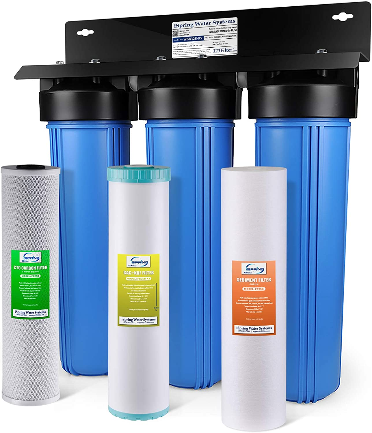 iSpring WGB32B-KS 3-Stage Whole House Water Filter
