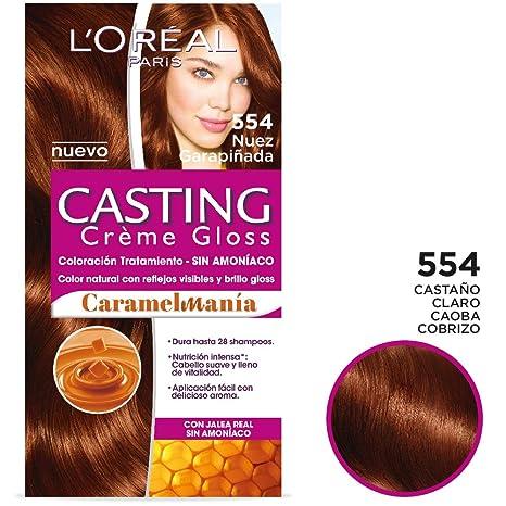 Tinte Capilar Permanente Casting Créme Gloss L Oréal Paris 554 Nuez  Garapiñada 8de809f235db