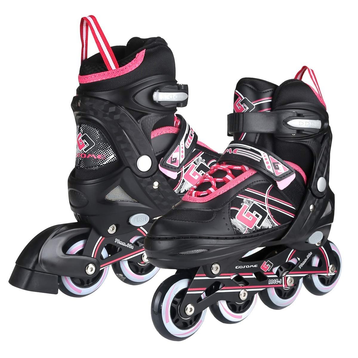 ZALALOVA Inline Skate for Girls, Kids Adjustable Inline Skates Safe Girls Roller Skates with Thickened Breathable Mesh Rollerblades for Girls Boys Beginner – Featuring All Illuminating Wheels