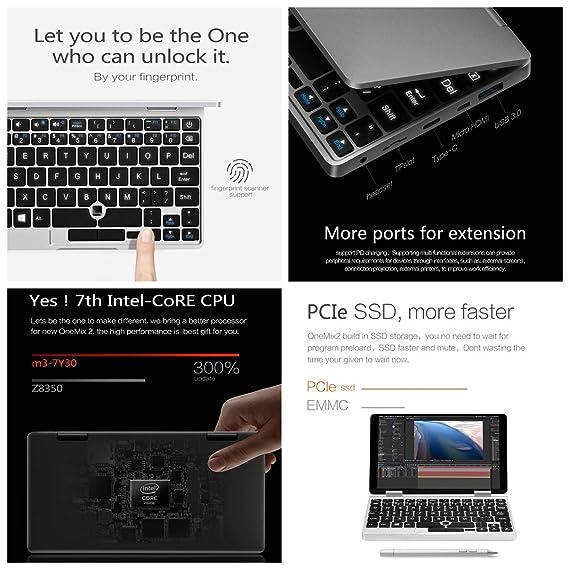 VOYO 2 en 1 mini ordenador portátil del negocio 7 , cerradura de la huella digital inter CoreM3-7Y30 8G RAM 256G ROM SSD 1920 * 1200 IPS Win10 360 ...