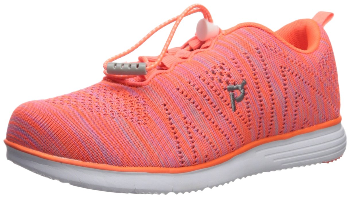 Propét Women's TravelFit Walking Shoe B01KNVFH58 10 2E US|Orange/Pink