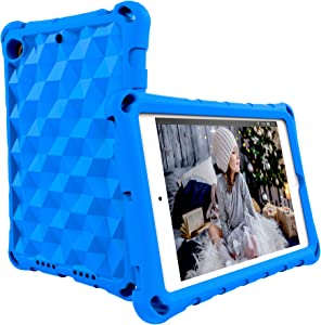 Riaour Case for iPad 9.7 2018 2017 / iPad Air 2 / iPad Air - Non-Slip/Shockproof/Ultra Light Adults & Kids Friendly Tablets Cover for iPad 6th / 5th Gen, iPad Air 1/2 (Blue)