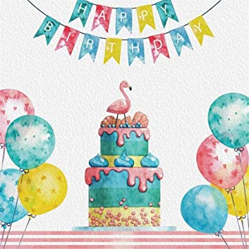 EdCott 10x10ft Fondo de cumpleaños para niños Globos de ...