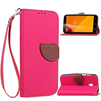 Vodafone Smart Turbo 7 Case, CaseFirst Hoja Cartera Caja PU + TPU Magnetic Flip Cover