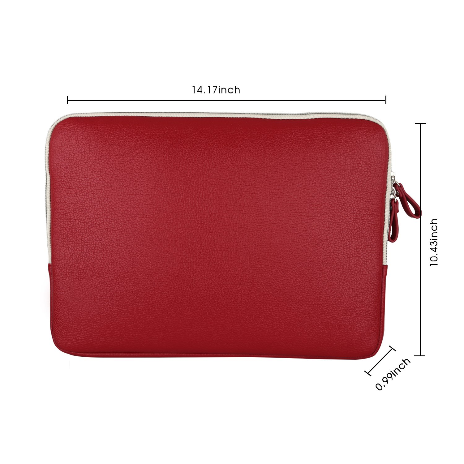 Laptop sleeve, Drmee 13 inch Macbook Air/ Macbook Pro / Pro Retina Sleeve Case Cover, Protective Bag Briefcases for Surface Laptop 2017, Red