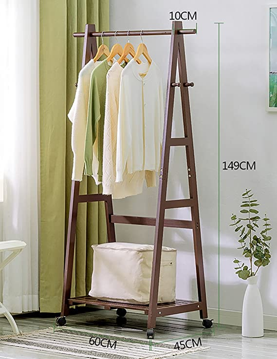 Amazon.com: Hangers Coat Rack Solid Wood Floor Easy Hanger ...