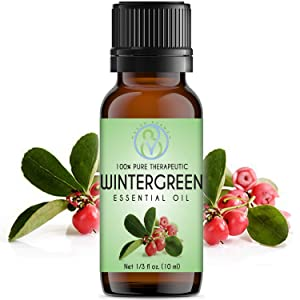 Wintergreen Essential Oil 10 ml 100% Pure & Natural Therapeutic Grade Undiluted Best For Aromatherapy Diffuser, Humidifier, Sauna, Steam Room, Nasal Congestion & Help Breathing