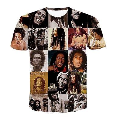 99a2dbd5cf128 Catamaran Unisex Reggae Bob Marley Hip Hop 3d Teen T Shirts Crop ...