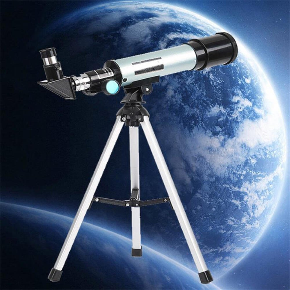 Telescope for Kids, Merkmak Educational Toy for Beginners Science Plastic Tools with Tripod and 3 Magnification Eyepieces 360/50mm Spotting Scope (Type 2)