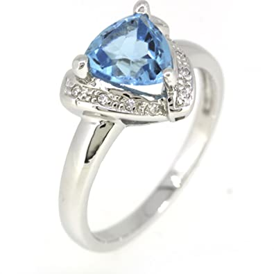 Fine Jewelry Other Fine Rings Sterling Silver Ring W/ Blue Topaz Pretty And Colorful