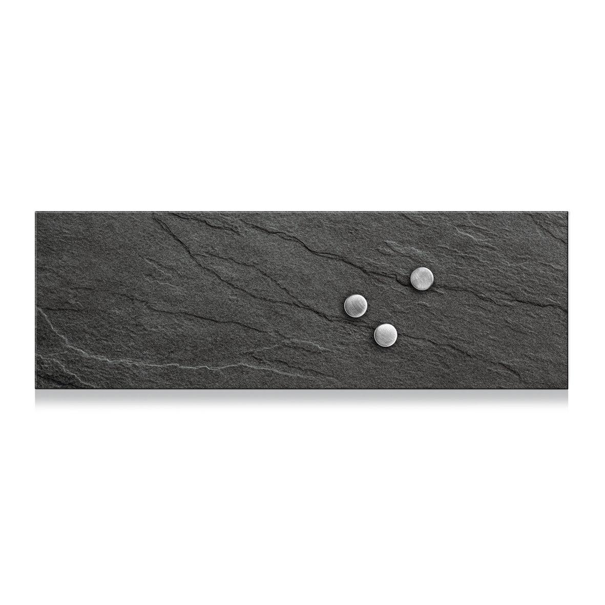 Verre 75 x 25 cm Noir Zeller Memobord