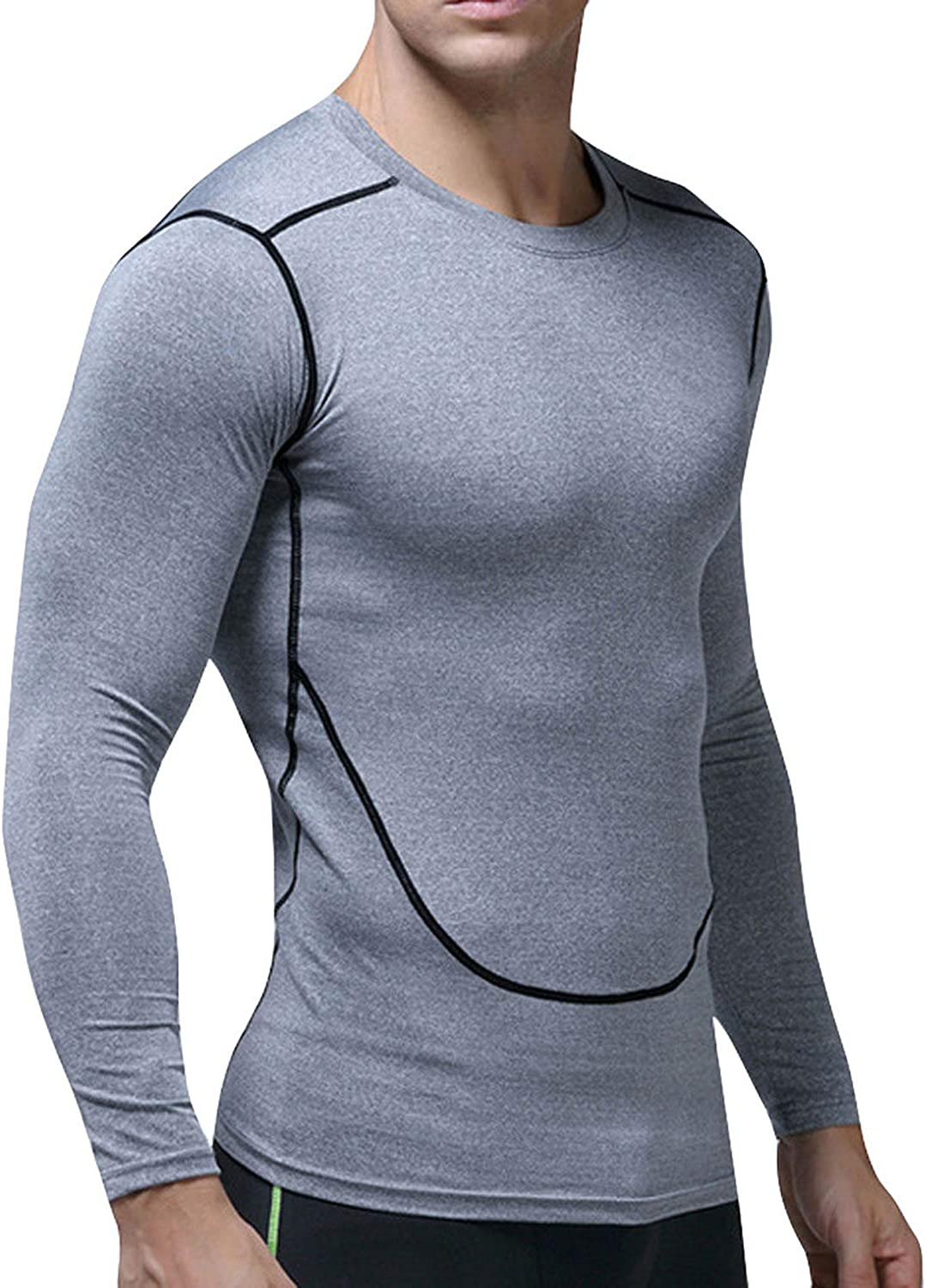Fast Dry Sports Tight T Shirts Casual Running Mens Long Sleeved Tops Tees