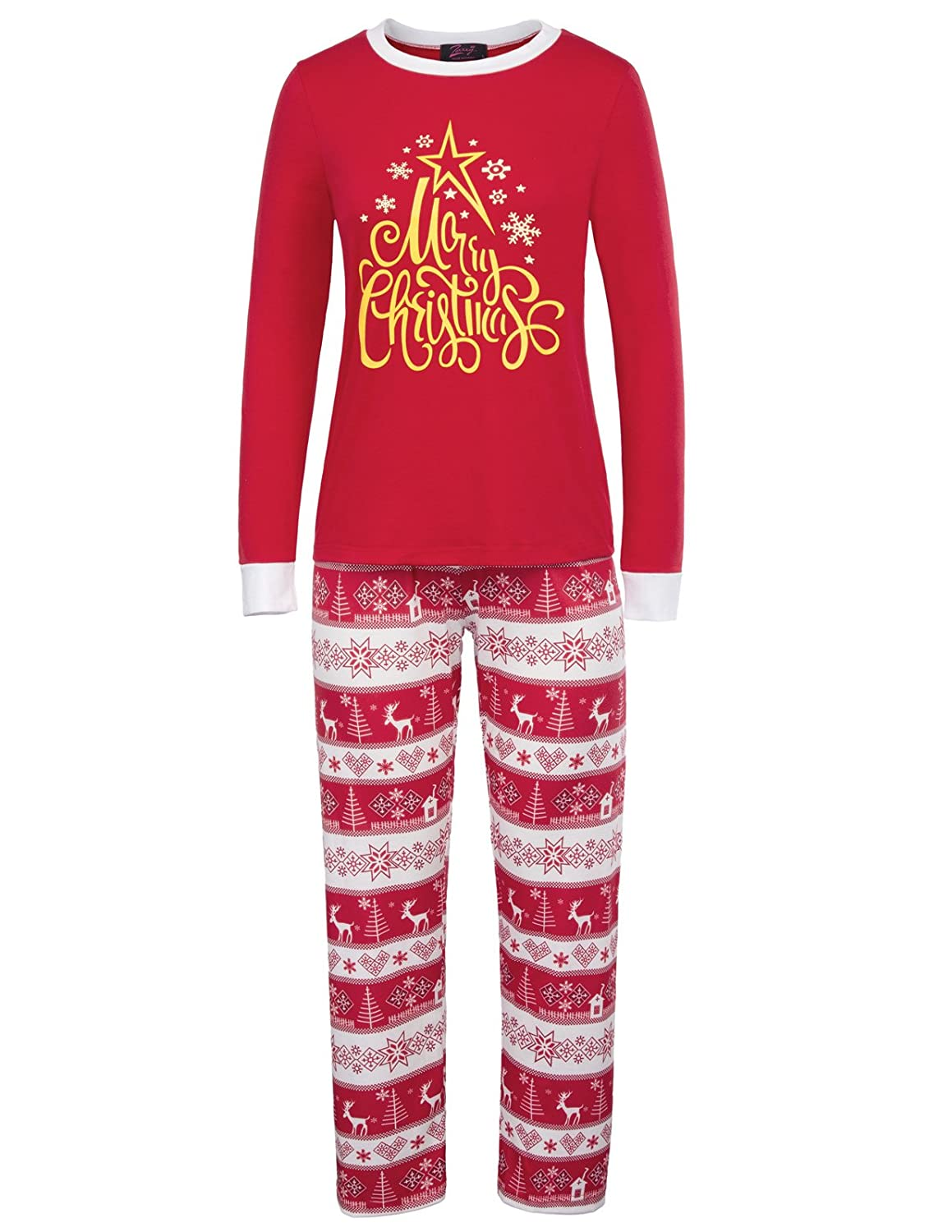2aa529982 outlet Zexxxy Women Comfort Stylish Loungewear for Christmas Plus Size  Floral PJs Red XXL ZE124-