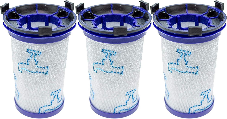 3 filtros para aspiradora Rowenta Air Force 360 RH9037, RH9038, RH9039, RH9051WO, RH9057WO, RH9086WO (equivalente a ZR009001). 15416