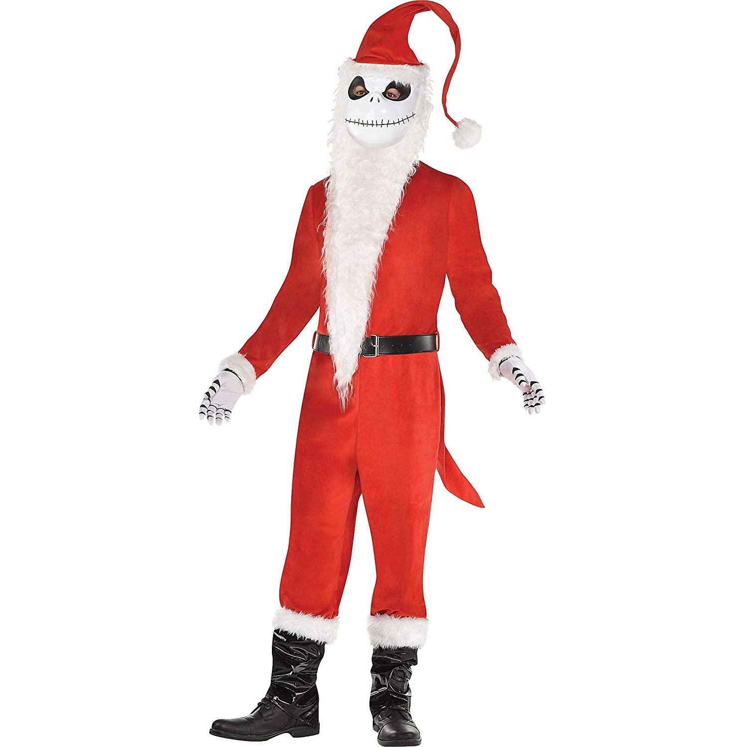 Nightmare Before Christmas Sandy Claws Costume, Mens, Includes Mask, and  More