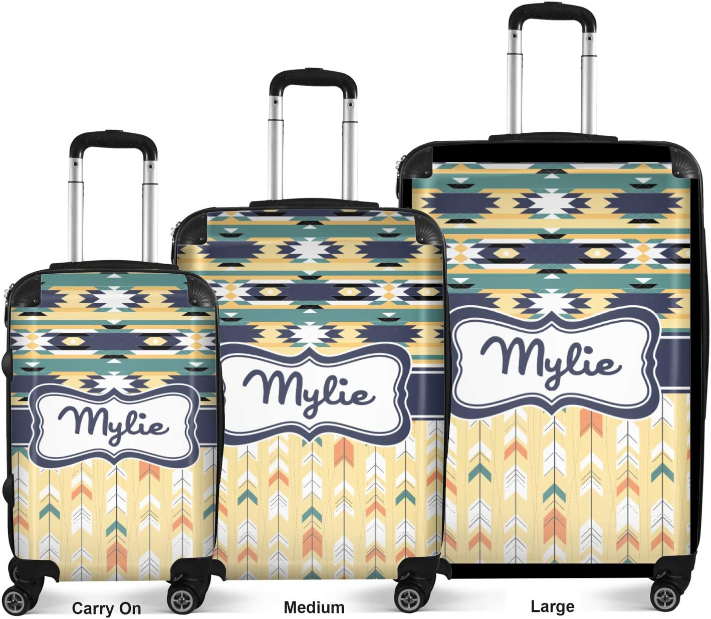 20 Carry On Personalized Tribal2 Suitcase