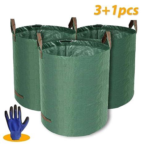 Kit de 3 bolsas de residuos de jardín grandes plegables de ...
