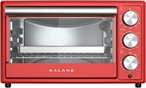 Galanz GRH1209RDRM151 Retro Toaster Oven, 0.9 Cu. Ft, Red