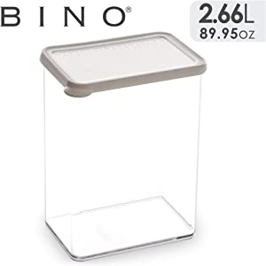 BINO Airtight Food Storage Containers with Lids, 2.4 Qt/2.26 Liter, White - Airtight Container Kitchen Storage Containers for Pantry Containers for Organizing Airtight Storage Containers