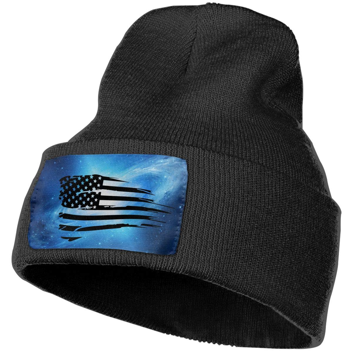 Helidoud Distressed American Flag Winter Beanie Hat Knit Skull Cap for for Men /& Women