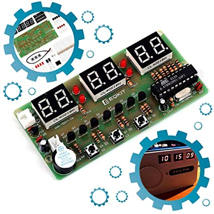 tmallshop 6 dígitos Electrónico Digital Alarma Reloj montaje Kits juego de DIY Electronics práctica AT89 C2051