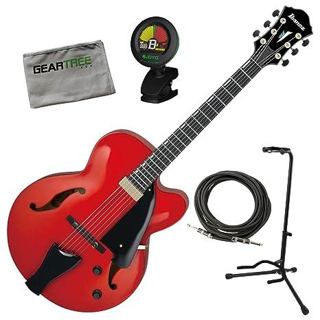 Ibanez afc151srr AFC contemporáneo Archtop guitarra eléctrica amanecer rojo w/funda, cable, geartree