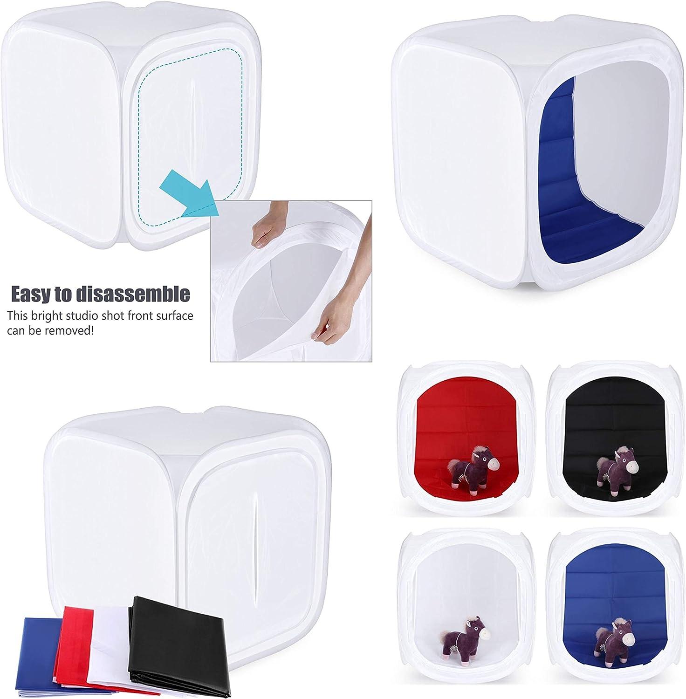 Produktfotografie erh/ältlich in Gr/ö/ßen 40/cm PhotoGeeks Shooting Box Cube Diffusor 60/cm 100/cm Fotografie Studio Pop-Up-Lichtzelt mit 4/Hintergr/ünde 90/cm 120/cm und 150/cm