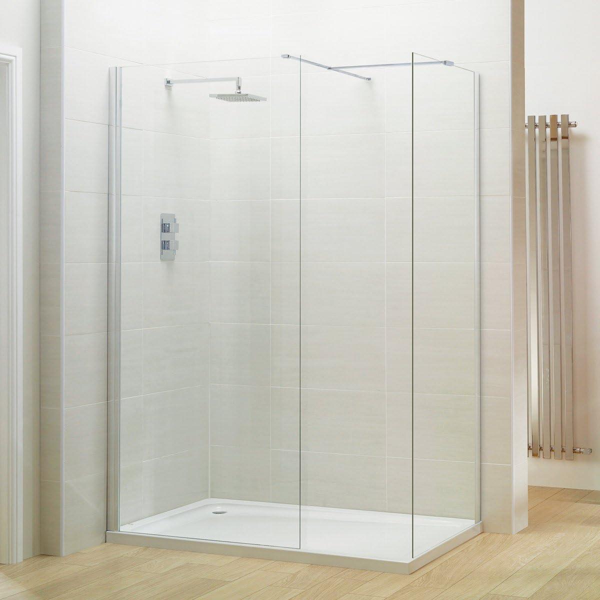 Coral 8 mm mojado habitación ducha cristal panel 1100: Amazon.es ...