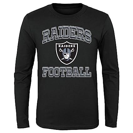 Oakland Raiders Youth NFL  quot Estrella de la Juego quot  Manga Larga  playera 99947393cee