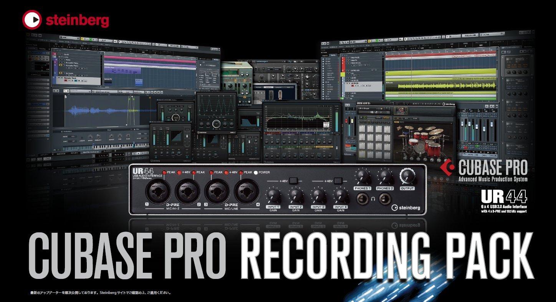 Steinberg スタインバーグ ソフトウェアハードウェアバンドル Cubase Pro Recording Pack   B01N5HXNWX