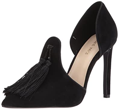 Nine West Women's Tyrell Suede Pump, Black/Black, ...