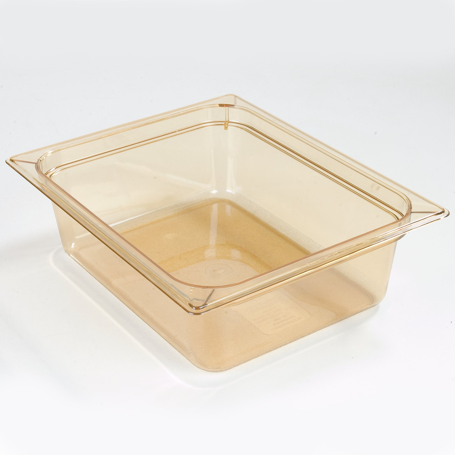 Carlisle 10421B13 StorPlus High-Heat Half-Size Food Pan, 6.6 qt. Capacity, 12-3/4 x 10-3/8 x 4'', Amber (Case of 6)