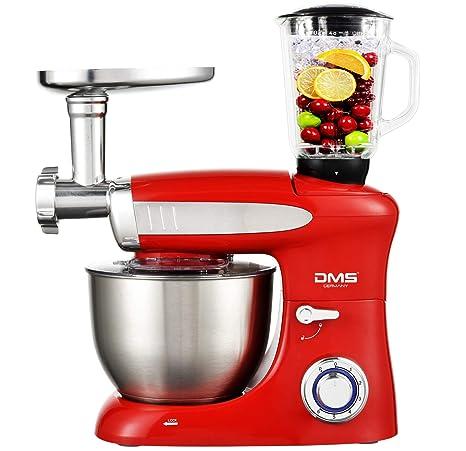 Küchenmaschine Rührmaschine Knetmaschine Teigkneter Rot 6,5L 1900 W