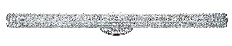 Maxim 32505bcpc Meteor LED 1-light Bath Vanity、ポリッシュクローム仕上げ、Beveledクリスタルガラス、PCB LED電球, 60 W最大安全評価、乾燥、標準調光機能付き、シェード素材、定格ルーメン B0119L40PE