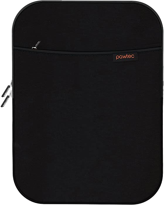 """Pawtec Shockproof Neoprene Protective Storage Carrying Sleeve Case - Compatible with Apple iPad Air/Pro 9.7"""" - Extra Storage Pocket for Accessories and Wall Charger (Black iPad Air/Pro 9.7)"""