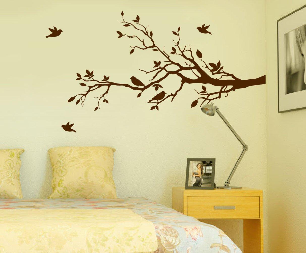 Amazon.com: Tree Branches Wall Decal Love Birds Vinyl Sticker ...
