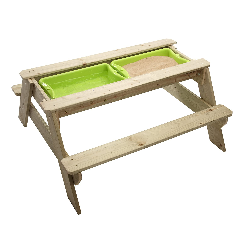 Sandtisch Holz - TP Toys Picknicktisch mit Sandkasten