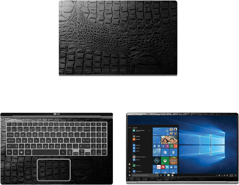 "Decalrus - Protective Decal for LG Gram 15Z990 (15.6"" Screen) Laptop Crocodile Skin Pattern Texture Skin case Cover wrap CROlgGram_15z990Black"