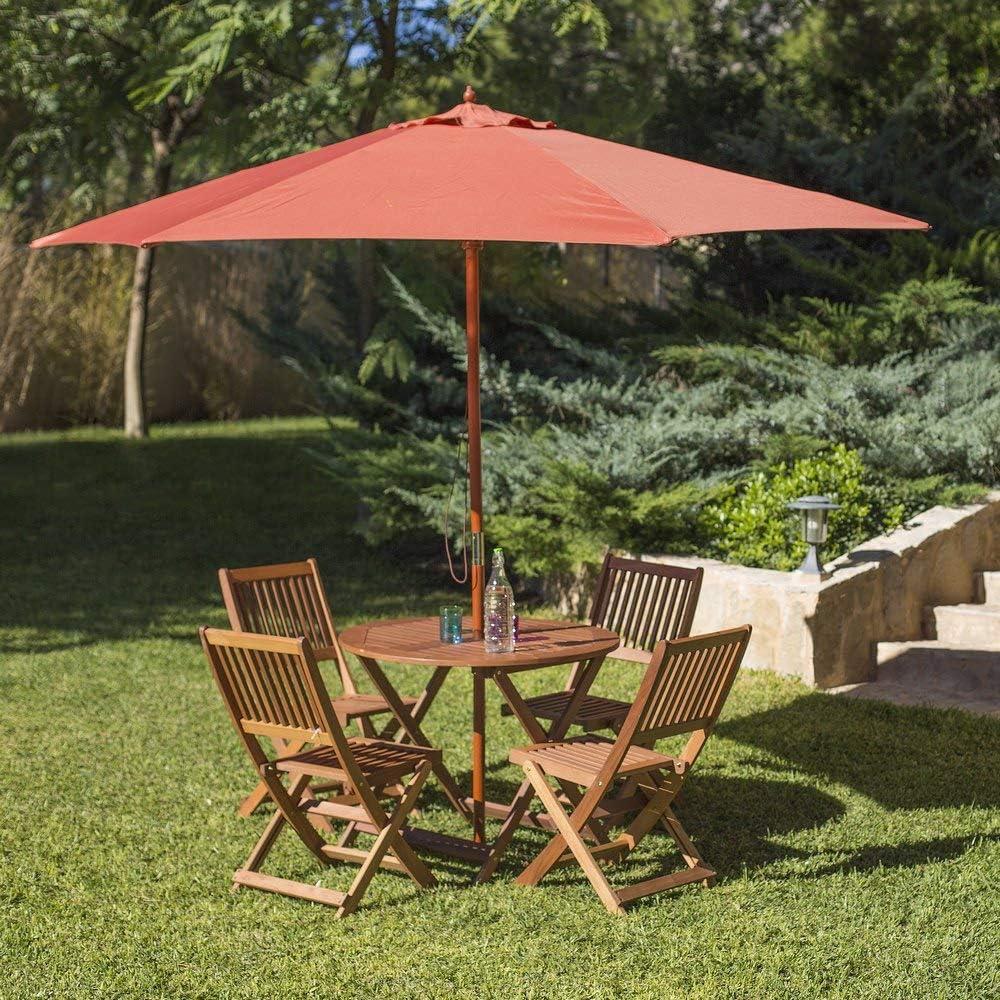Ldk Garden Chaise Pliante de Jardin en Bois Naturel