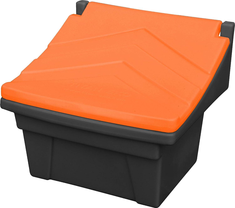 Recipiente para alimentos (50 kg), color gris y naranja
