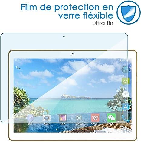 KARYLAX Protection d/écran Film en Verre Flexible Duret/é 9H 100/% Transparent pour Tablette QOOQ Ultimate MTK8163 10,1 Pouces