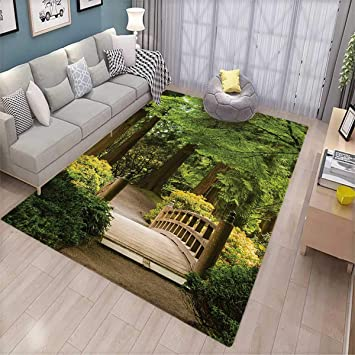 Amazon Com Japanese Bath Mats For Floors Wooden Bridge Over Pond In
