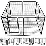Amazon Com Allmax Metal Pet Fence Black Allmax Pet
