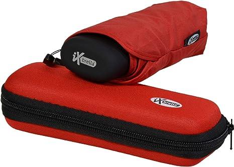 iX-brella - Paraguas con estuche (tamaño mini, ligero), color rojo: Amazon.es: Deportes y aire libre
