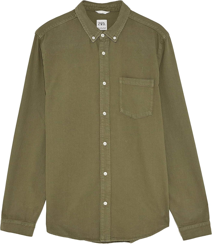 Zara Men 6987/300/505 - Camisa Vaquera Verde XL: Amazon.es: Ropa y accesorios